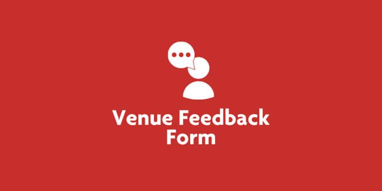 Venue Feedback Form